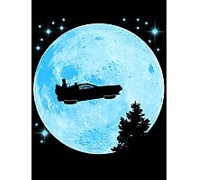 Ufo Car Back to the future Photographic Print
