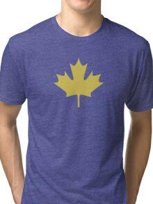 maple leaves  Tri-blend T-Shirt