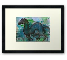 Lusus Naturae - Loch Ness Monster Framed Print