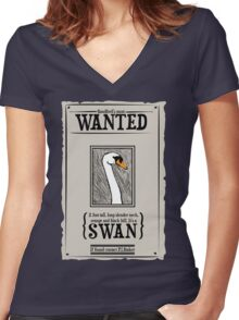 Sandford's Most Wanted Women's Fitted V-Neck T-Shirt