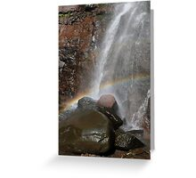 Lower Kaaterskill falls with rainbow, Upstate New York Greeting Card