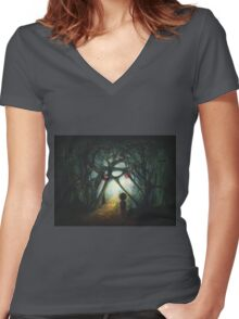 Through the  Dream Women's Fitted V-Neck T-Shirt