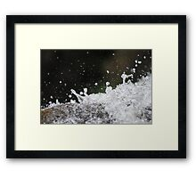 Water splashes Framed Print