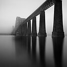 Forth Rail Bridge - Into The Mist by Kevin Skinner