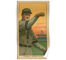 Benjamin K Edwards Collection Orval Overall Chicago Cubs baseball card portrait 002 Poster