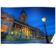 Leeds Town Hall at Dusk Poster