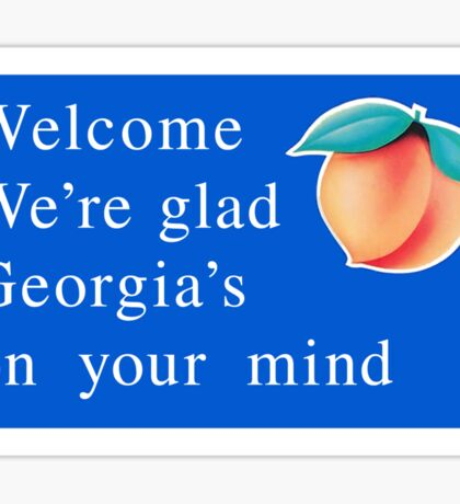 Welcome to Georgia, Road Sign, USA  Sticker