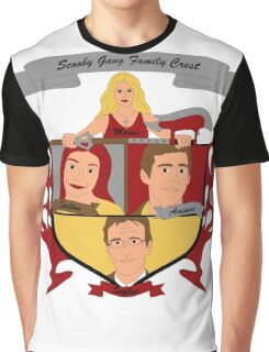 Buffy the Vampire Slayer Scooby Gang Family Crest Graphic T-Shirt