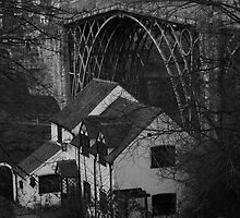 Iron Bridge and cottage by yampy