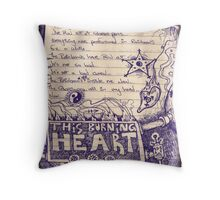 This Burning Heart Fuel Throw Pillow