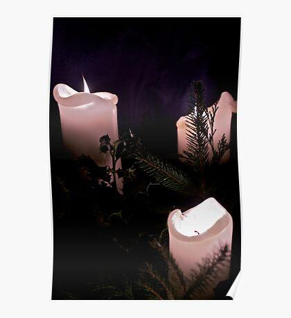 Xmas candles Poster