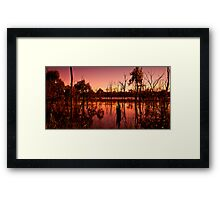 Wetland Sunset Framed Print