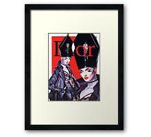 The right Miter  Framed Print