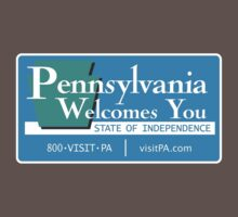 Welcome to Pennsylvania, Road Sign, USA  by worldofsigns