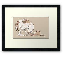 Elegant Monstrous Borzoi Dog Framed Print