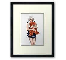 Scarlett & The Teddy Framed Print