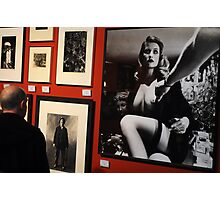 Unknown man looking at Art work of Helmut Newton worth $125.000 Photographic Print