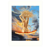 To hot to handle Art Print