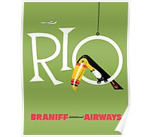 Braniff Airways Rio 1 Poster