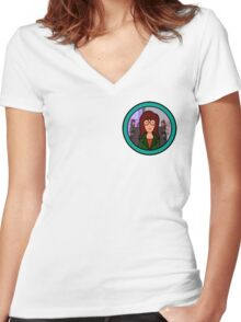 Good/Bad Daria Women's Fitted V-Neck T-Shirt