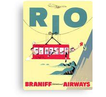 Braniff Airways Rio 2 Canvas Print