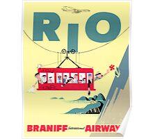 Braniff Airways Rio 2 Poster