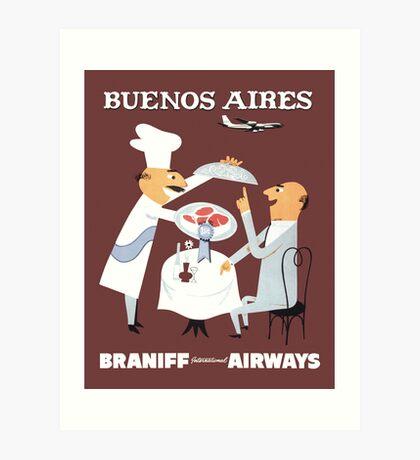 Braniff Buenos Aires 1 Art Print