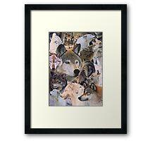 wolves alive Framed Print