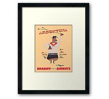 Braniff Argentina Poster Framed Print