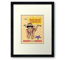 Braniff Miami Framed Print