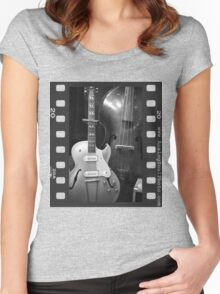 Guitar & Upright Bass Women's Fitted Scoop T-Shirt