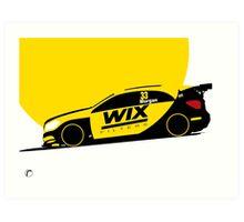 Adam Morgan WIX Racing Mercedes A-Class Touring Car BTCC Art Print