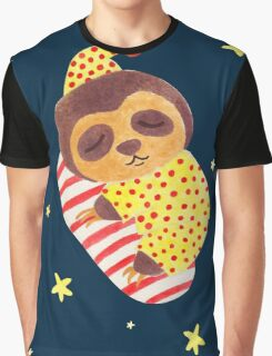Sleeping Like a Sloth Graphic T-Shirt