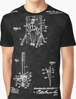 Magic - 1916 Knife Trowing Illusion Patent Graphic T-Shirt