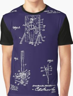 1916 Magician's Knife Throwing Illusion Patent Art Graphic T-Shirt