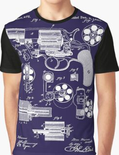 Revolver - Gun - 1881 Mason Revolver Firearm Patent Graphic T-Shirt
