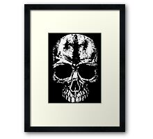 Painted skull Framed Print