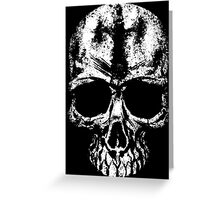 Painted skull Greeting Card