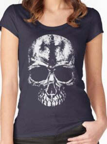 Painted skull Women's Fitted Scoop T-Shirt