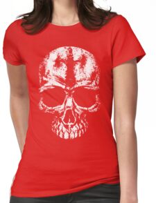 Painted skull Womens Fitted T-Shirt