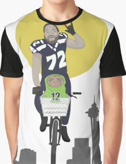Michael Bennett Does Victory Lap With ET Graphic T-Shirt