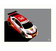 Gordon Sheddon 2015 Honda BTCC Champion Art Print