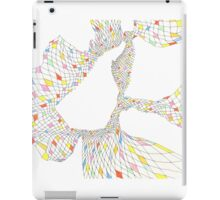 Geometric landscape multi colour rainbow 02 drawing  iPad Case/Skin