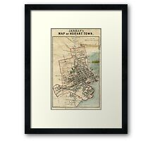 Jarman's Map of Hobart Framed Print