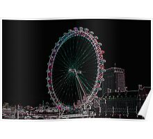 London Eye View With Digital Artistic adjustments Poster