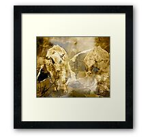 Rural .. Abstract Cows Framed Print