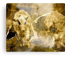 Rural .. Abstract Cows Canvas Print