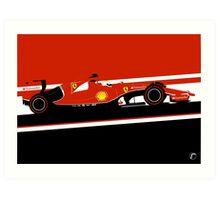Sebastian Vettel Ferrari Formula One Car Art Print
