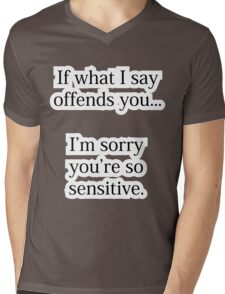 Offensive Apology Mens V-Neck T-Shirt
