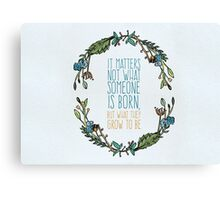 Harry Potter Floral Watercolour Typography Quote Canvas Print
